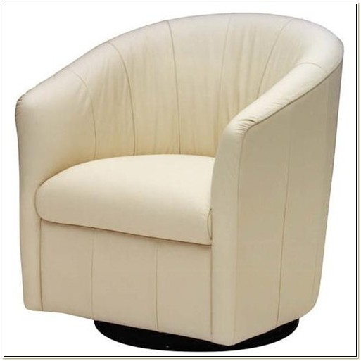 Natuzzi Leather Swivel Tub Chair