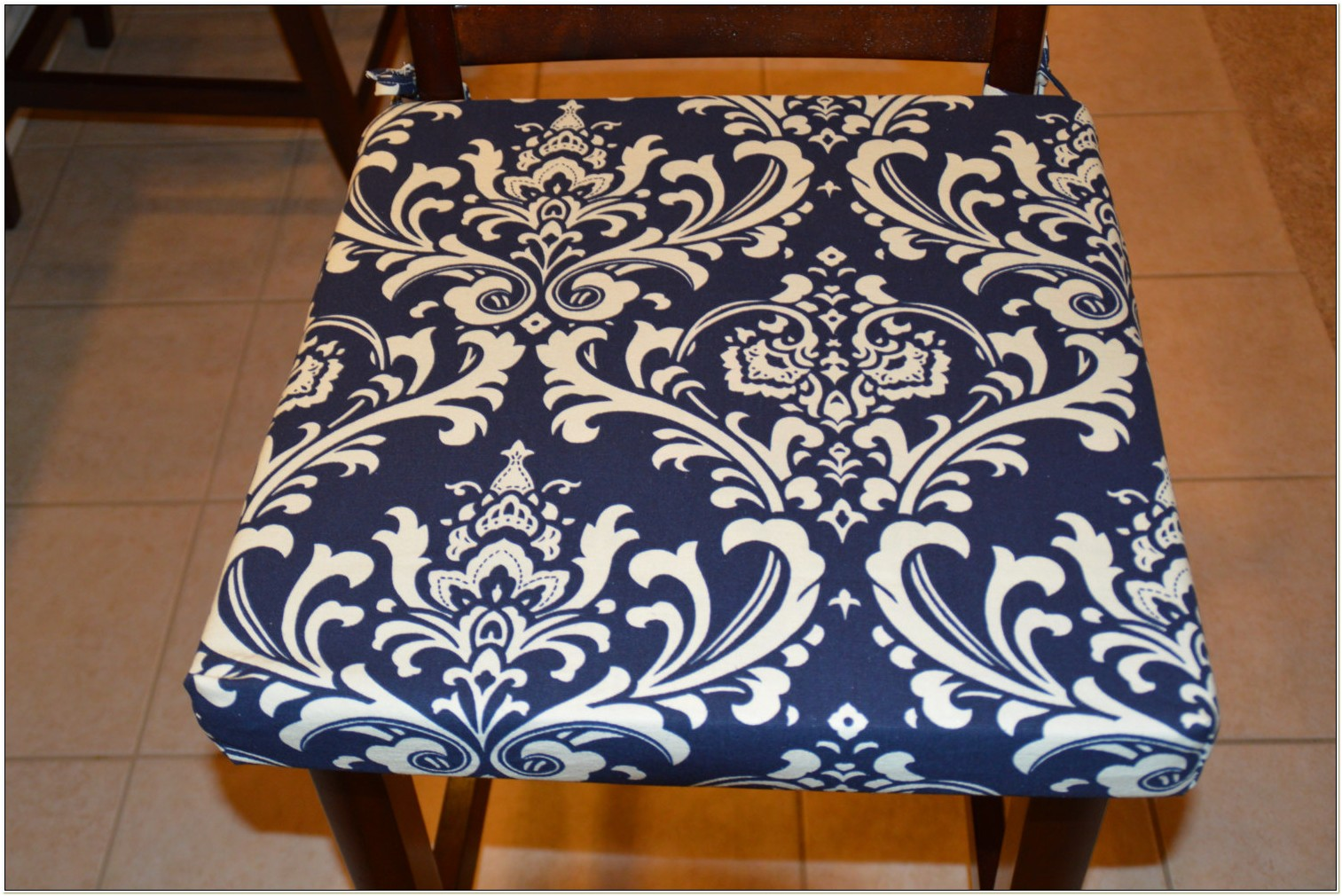 Navy Blue Dining Chair Cushions