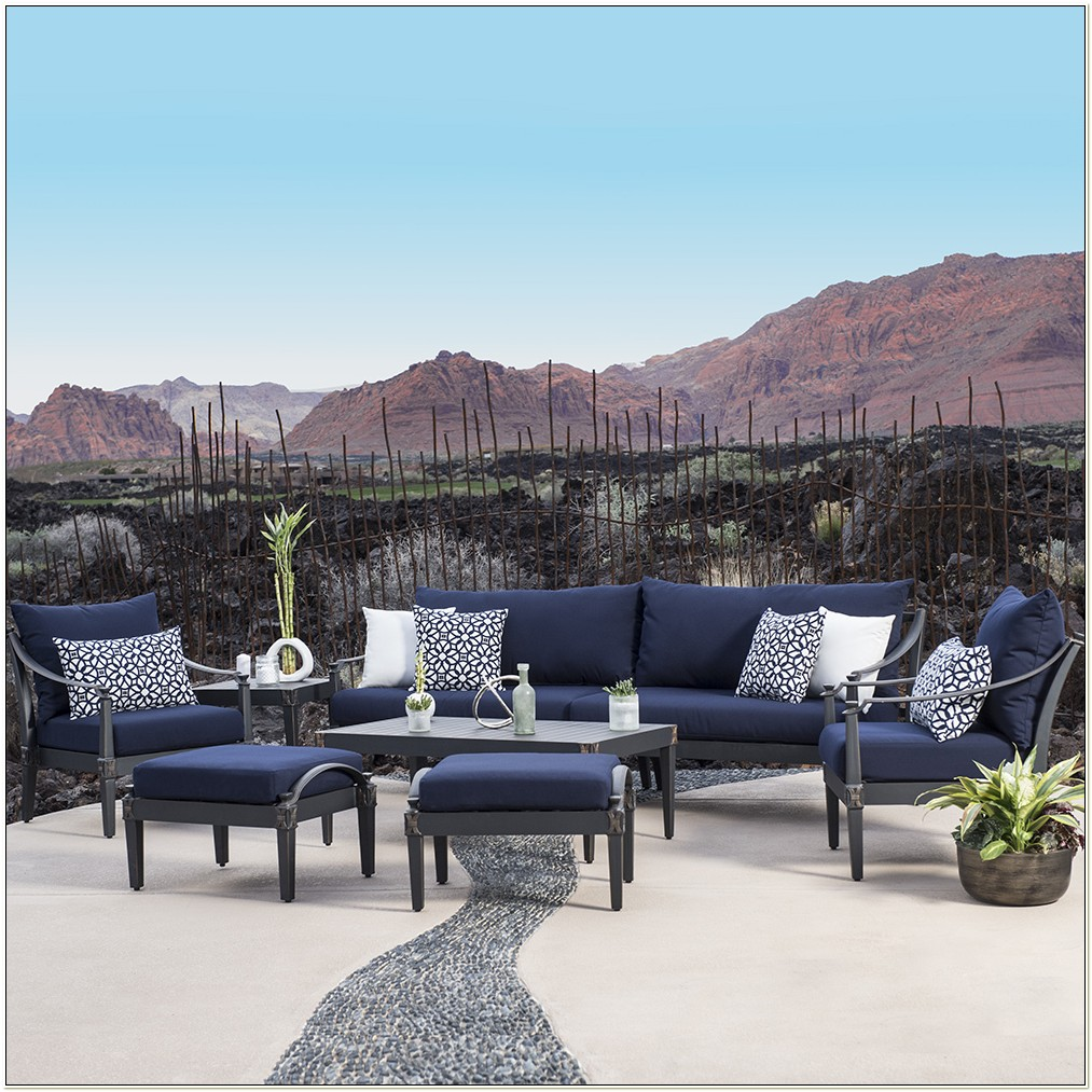 Navy Blue Patio Furniture Cushions