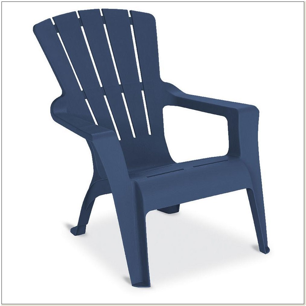 Navy Blue Resin Adirondack Chairs