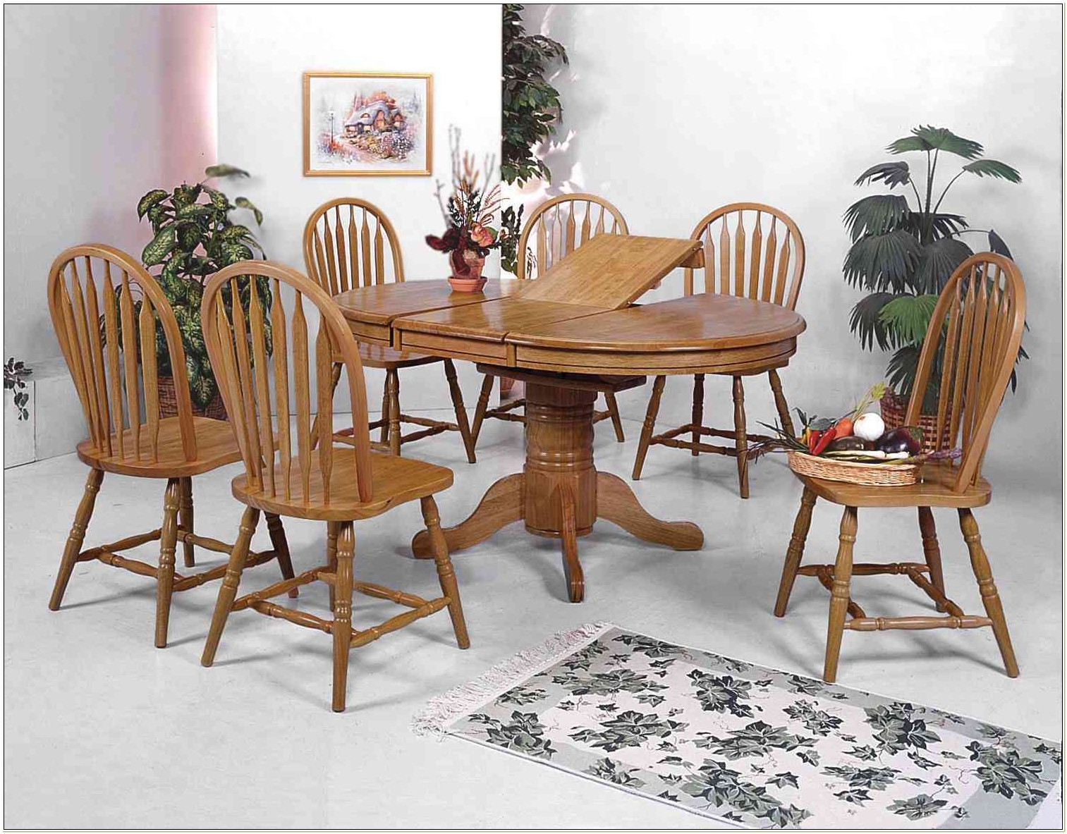Oak Arrowback Dining Room Chairs