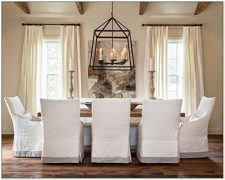 Off White Dining Chair Slipcovers