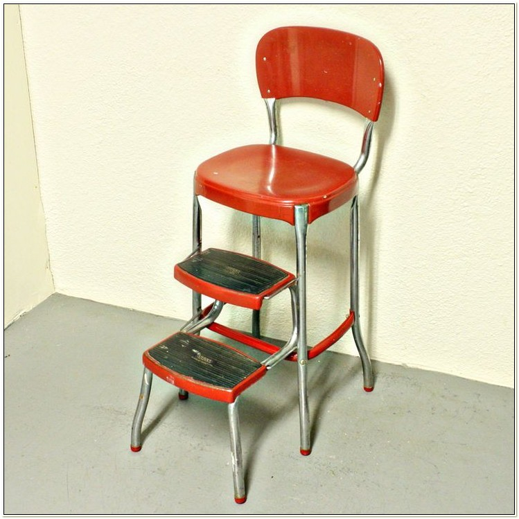 Old Fashioned Step Stool Seat