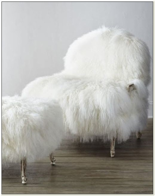 Old Hickory Tannery Sheepskin Chair