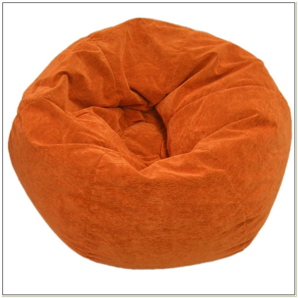 Orange Corduroy Bean Bag Chair