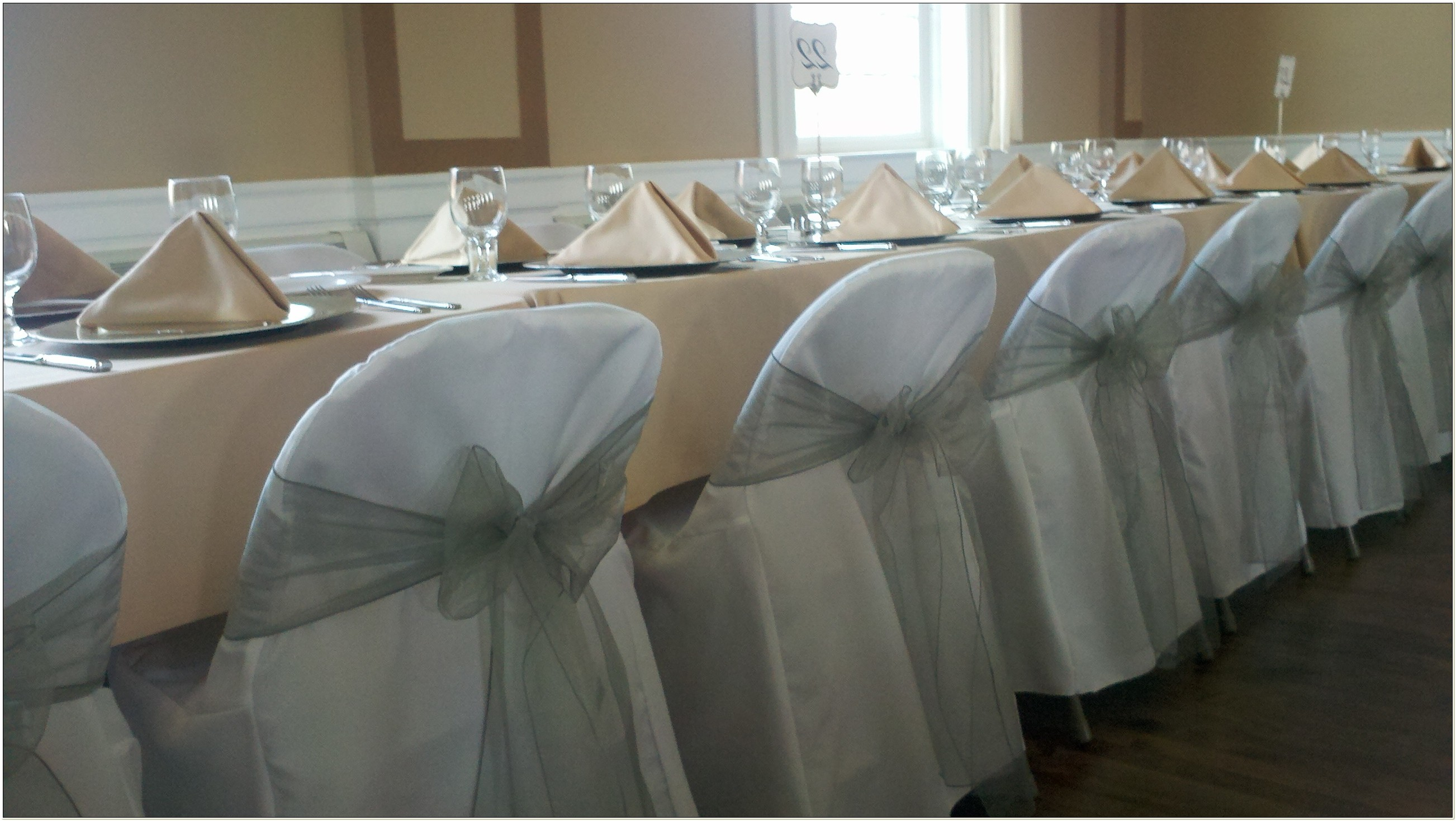 Organza Sashes For Chair Covers