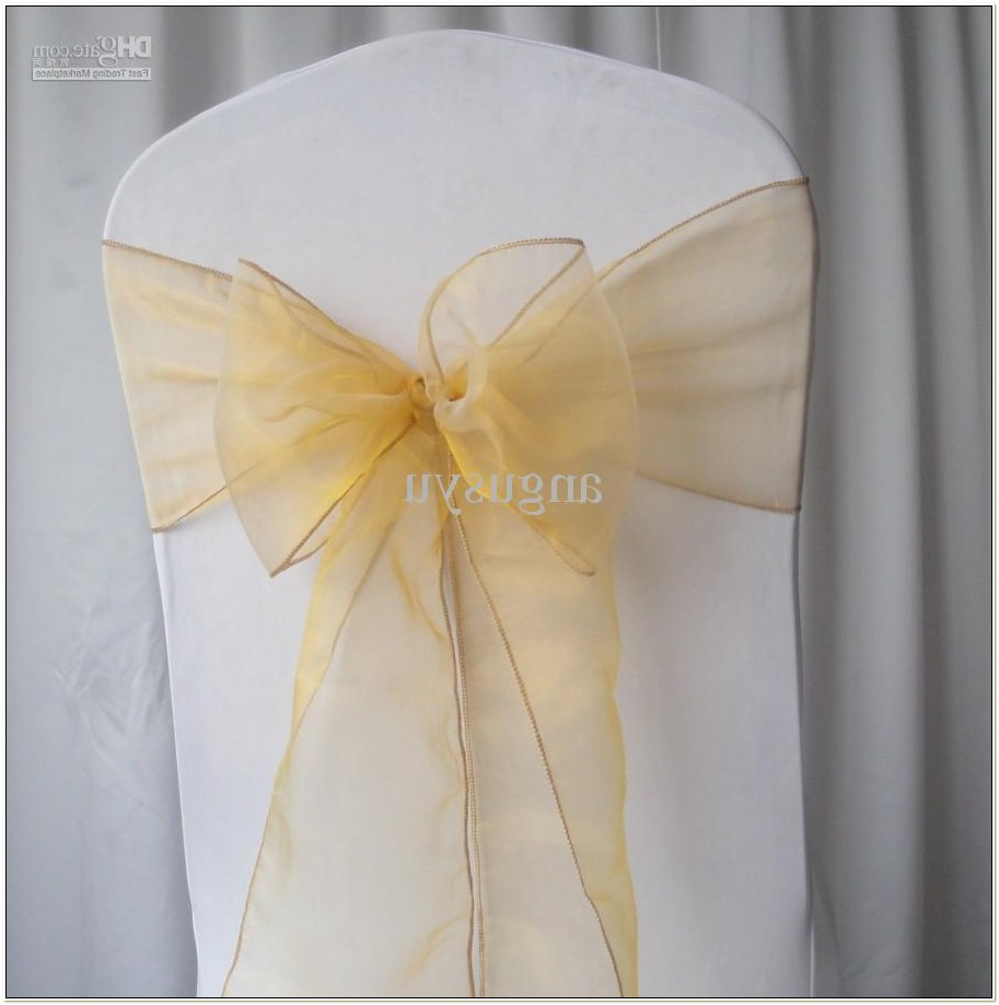 Organza Sashes For Wedding Chairs