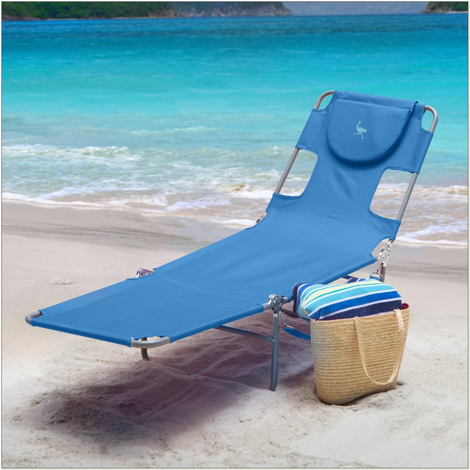 Ostrich Chaise Lounge Beach Chair