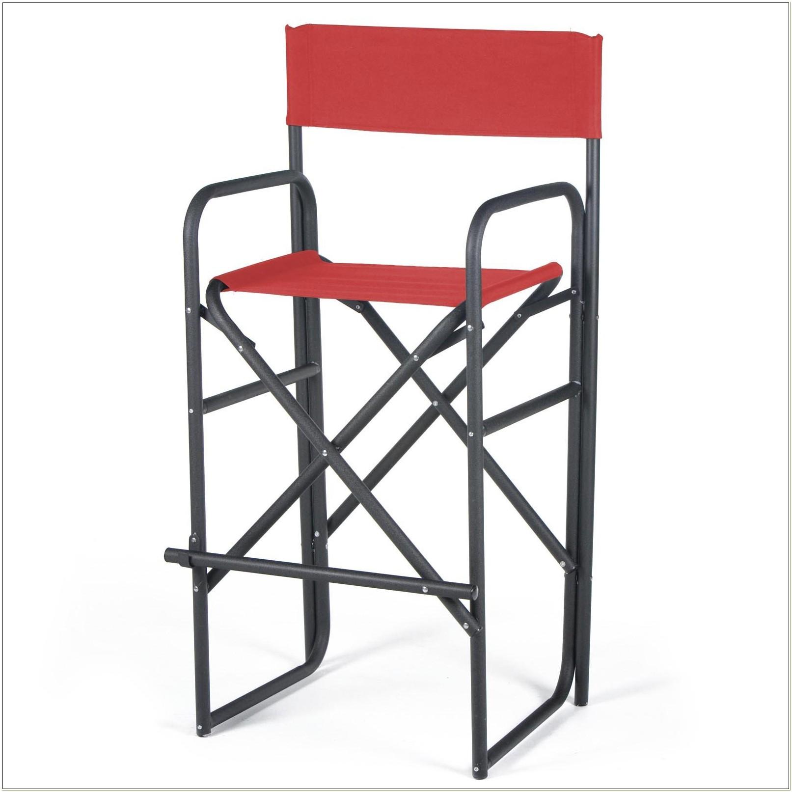 Outdoor Bar Height Directors Chairs