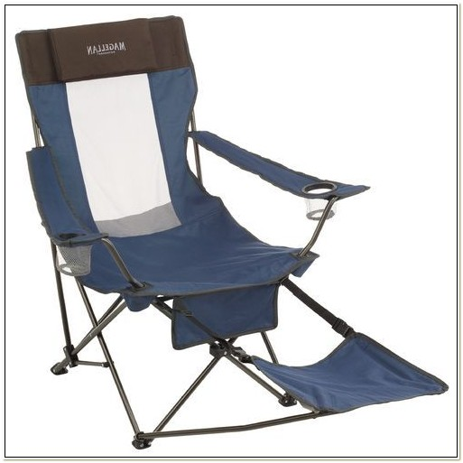 Outdoor Folding Chair With Footrest