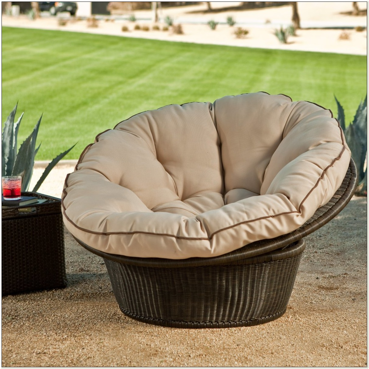 Outdoor Papasan Chair And Cushion