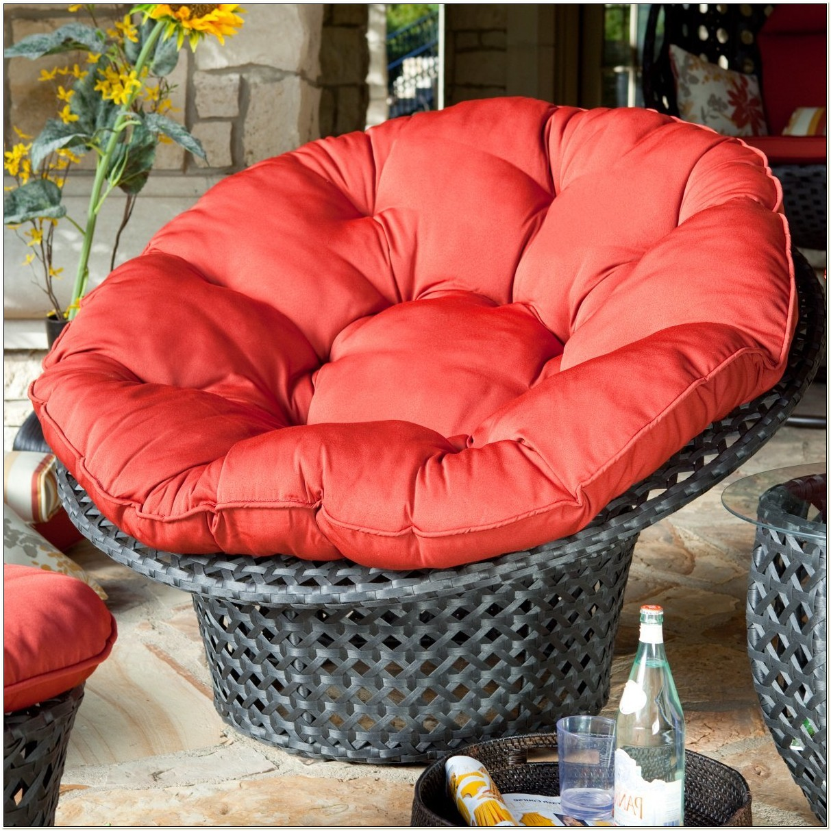 Outdoor Papasan Chair Cushion Cover