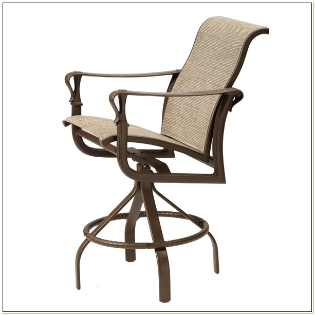 Outdoor Sling Back Bar Chairs
