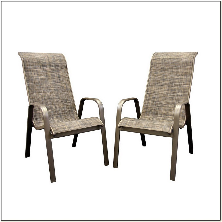 Outdoor Sling Back Patio Chairs