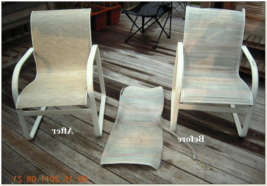 Outdoor Sling Chair Replacement Fabric