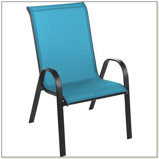 Oversized Sling Stack Patio Chair
