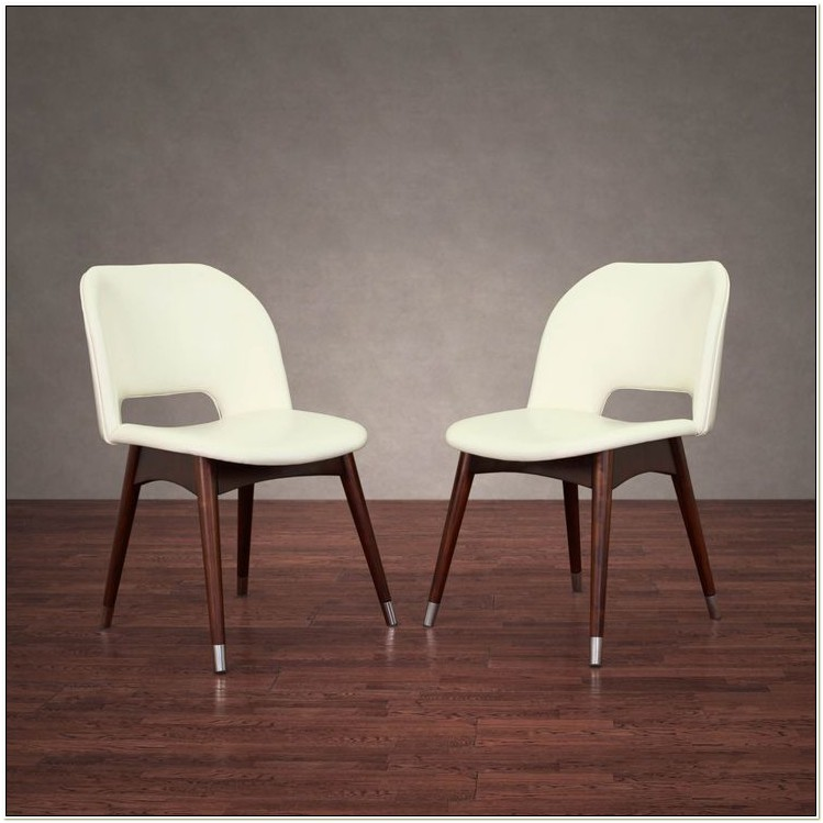 Overstock White Leather Dining Chairs