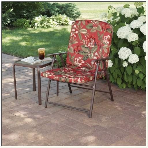 Padded Folding Patio Chairs