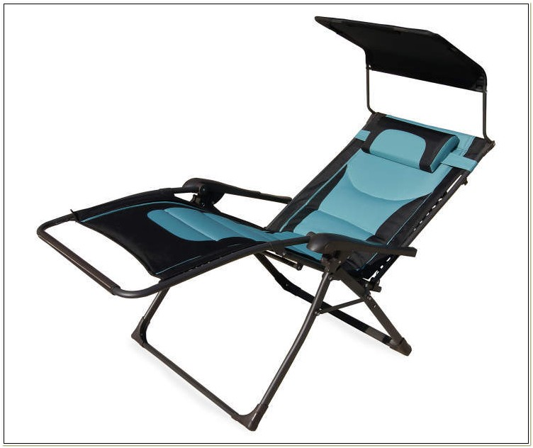 Padded Folding Zero Gravity Chair In Black