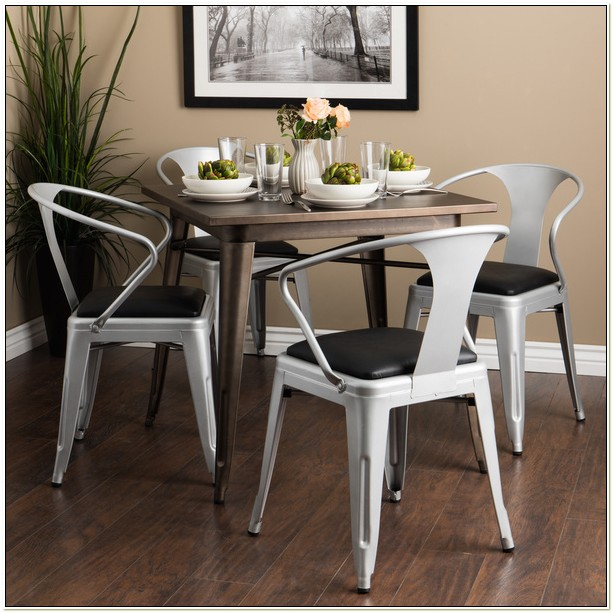 Padded Silver Tabouret Stacking Chairs