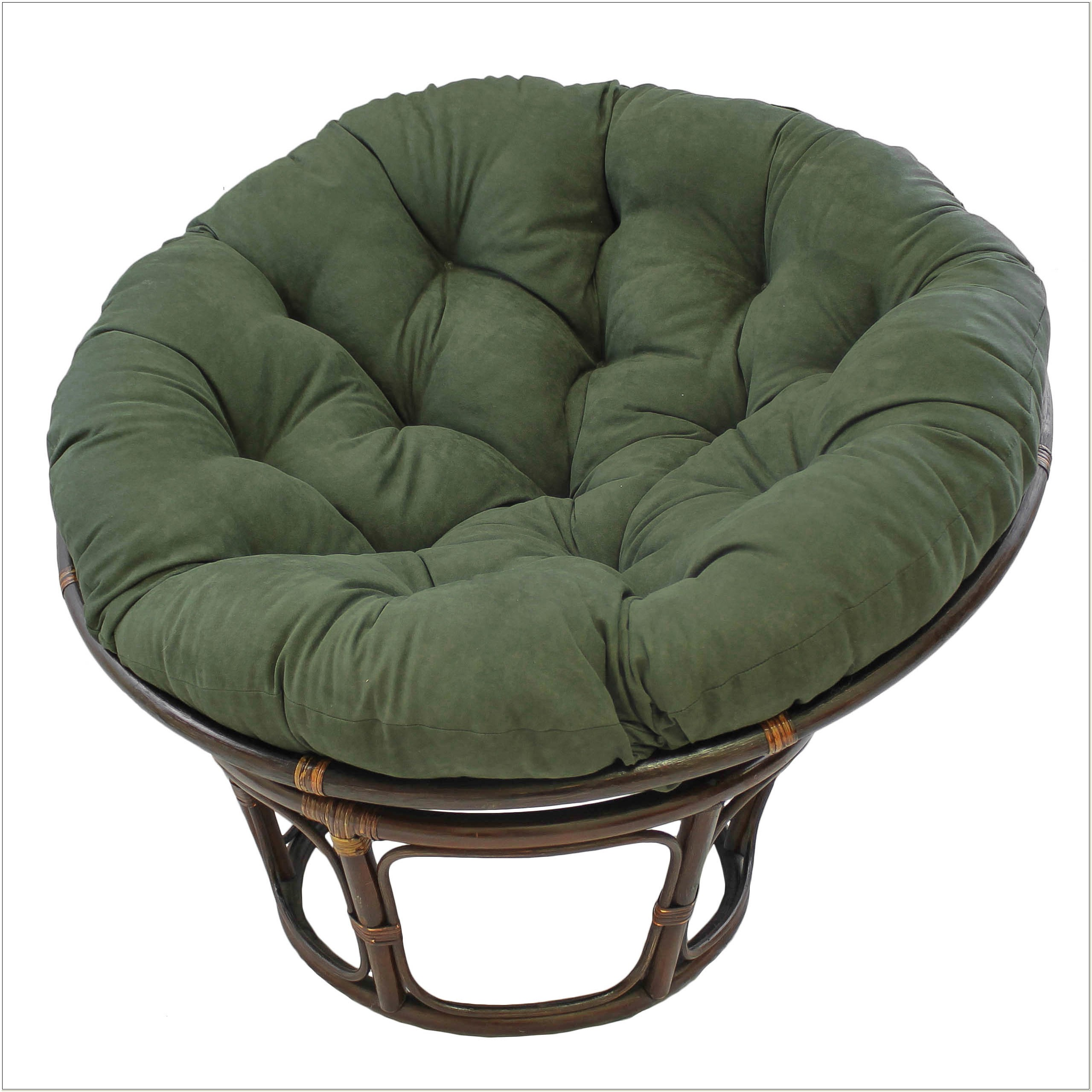 Papasan Chair With Microsuede Cushion