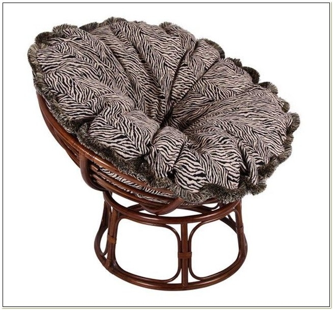 Papasan Double Chair Frame Brown