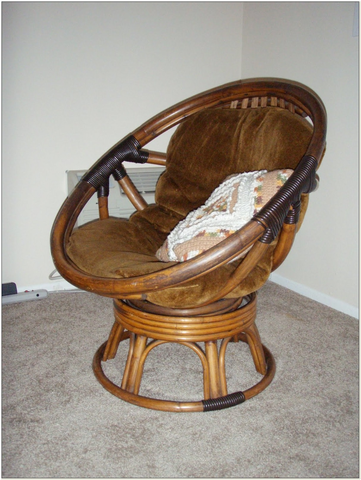 Papasan Swivel Rocker Chair