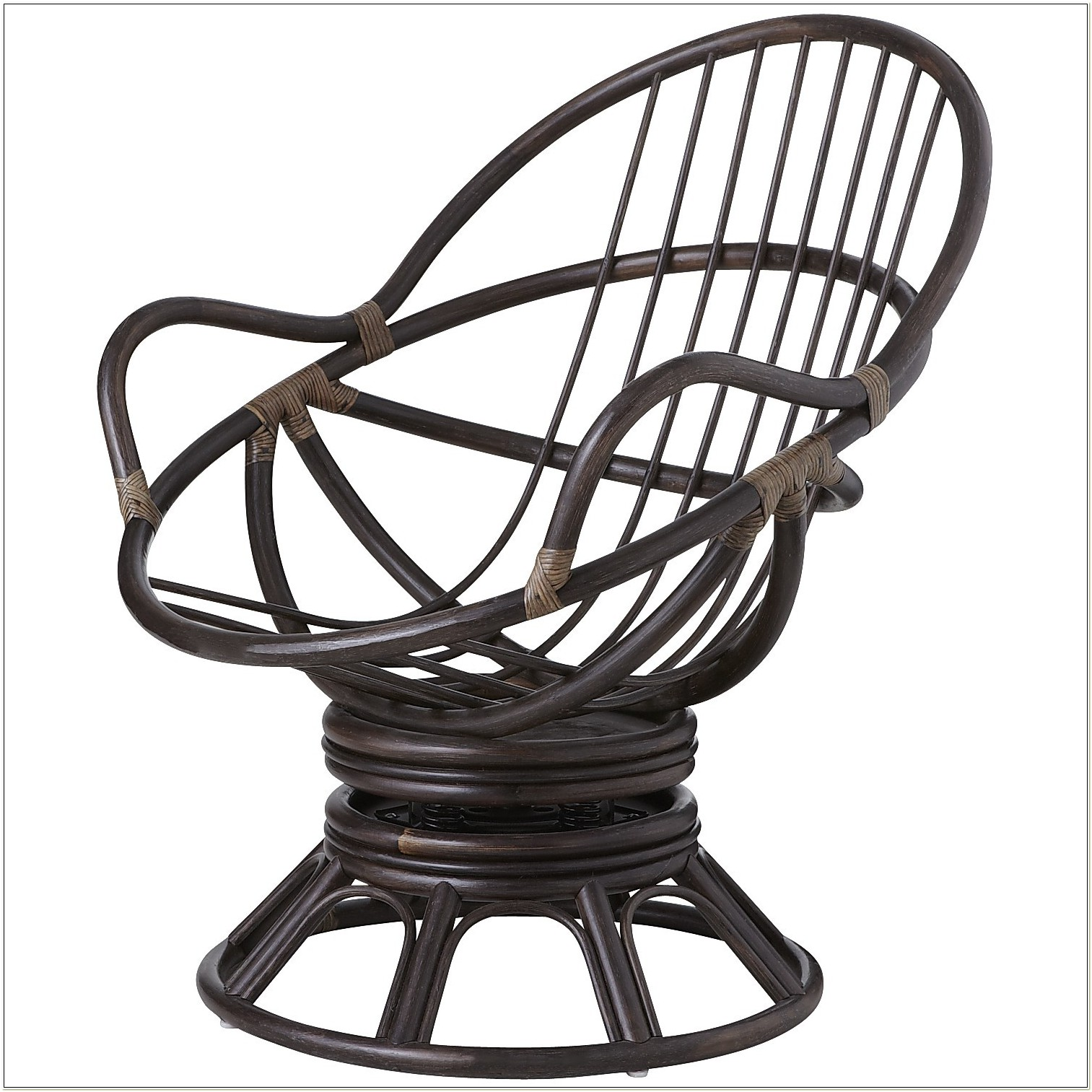 Papasan Swivel Rocking Chair