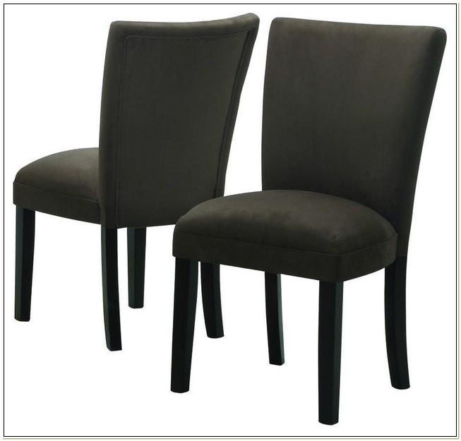 Parson Dining Chairs In Gray Microfiber