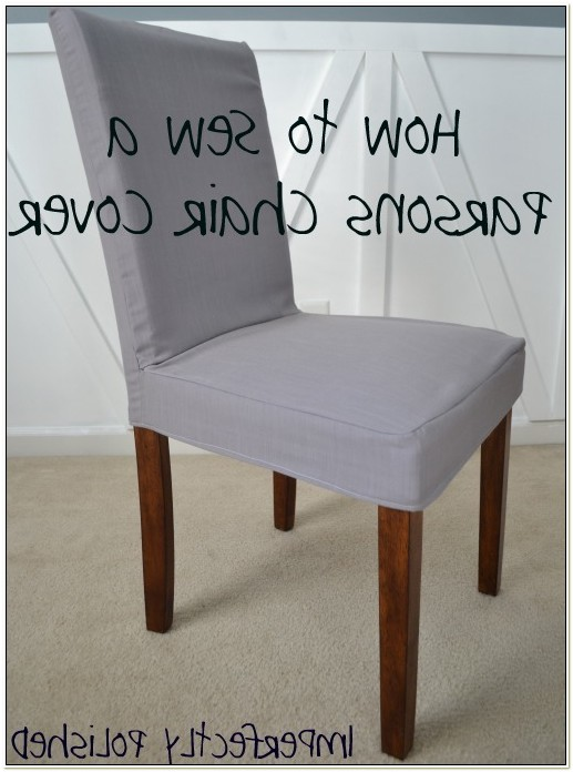 Parsons Chair Slipcover Tutorial
