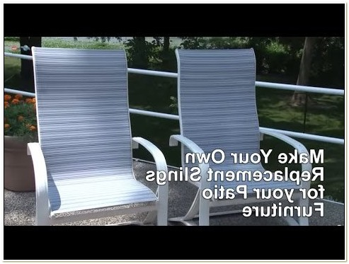 Patio Chair Sling Replacement Video