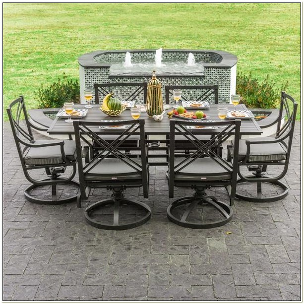 Patio Dining Sets With Swivel Chairs