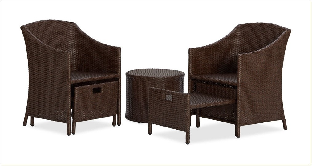 Patio Set With Ottoman
