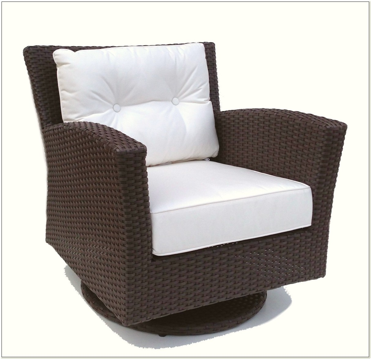 Patio Wicker Swivel Rocker Chair