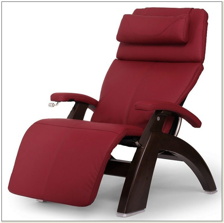 Perfect Chair Red Leather Zero Gravity Recliner