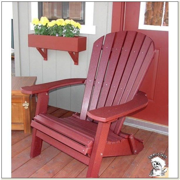 Phat Tommy Folding Polywood Adirondack Chair