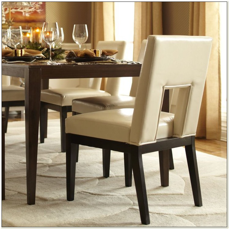 Pier One Leather Parsons Chair