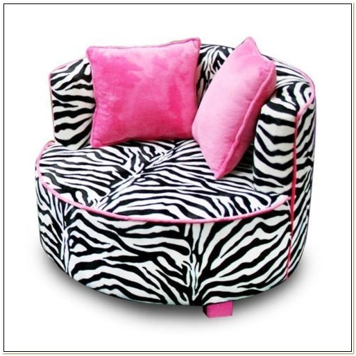 Pink And Black Zebra Bean Bag Chair