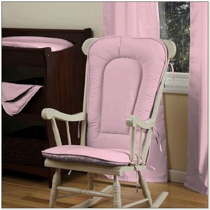 Pink Rocking Chair Cushion Sets For Nursery