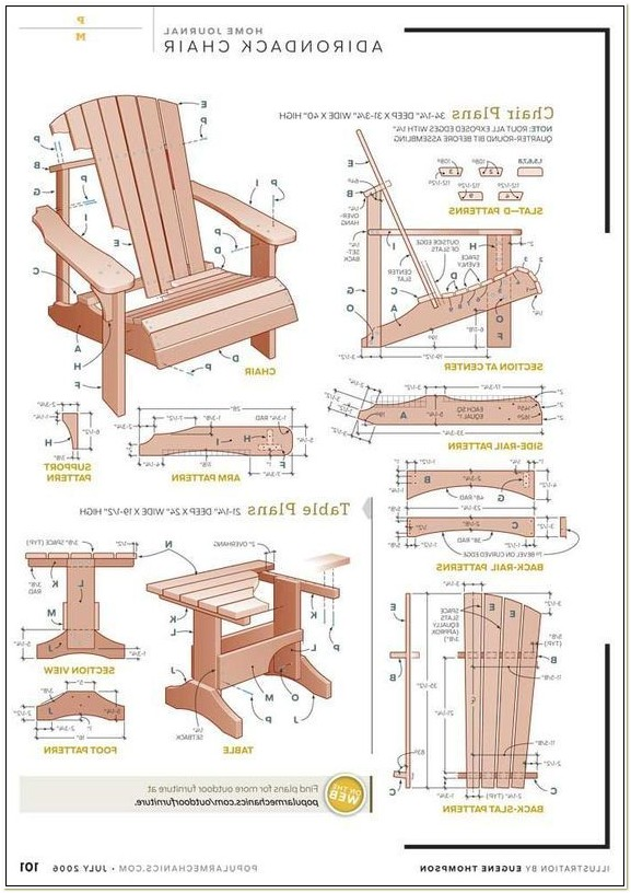 Plans For Adirondack Chairs