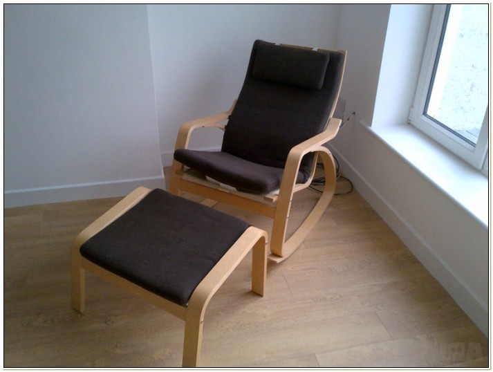 Poang Rocking Chair And Footstool