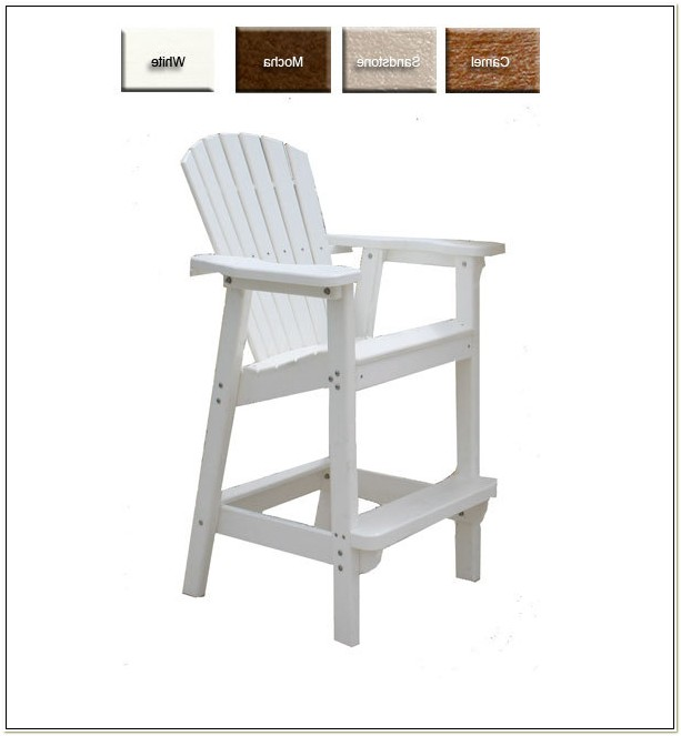 Polywood Adirondack Chairs Bar Height