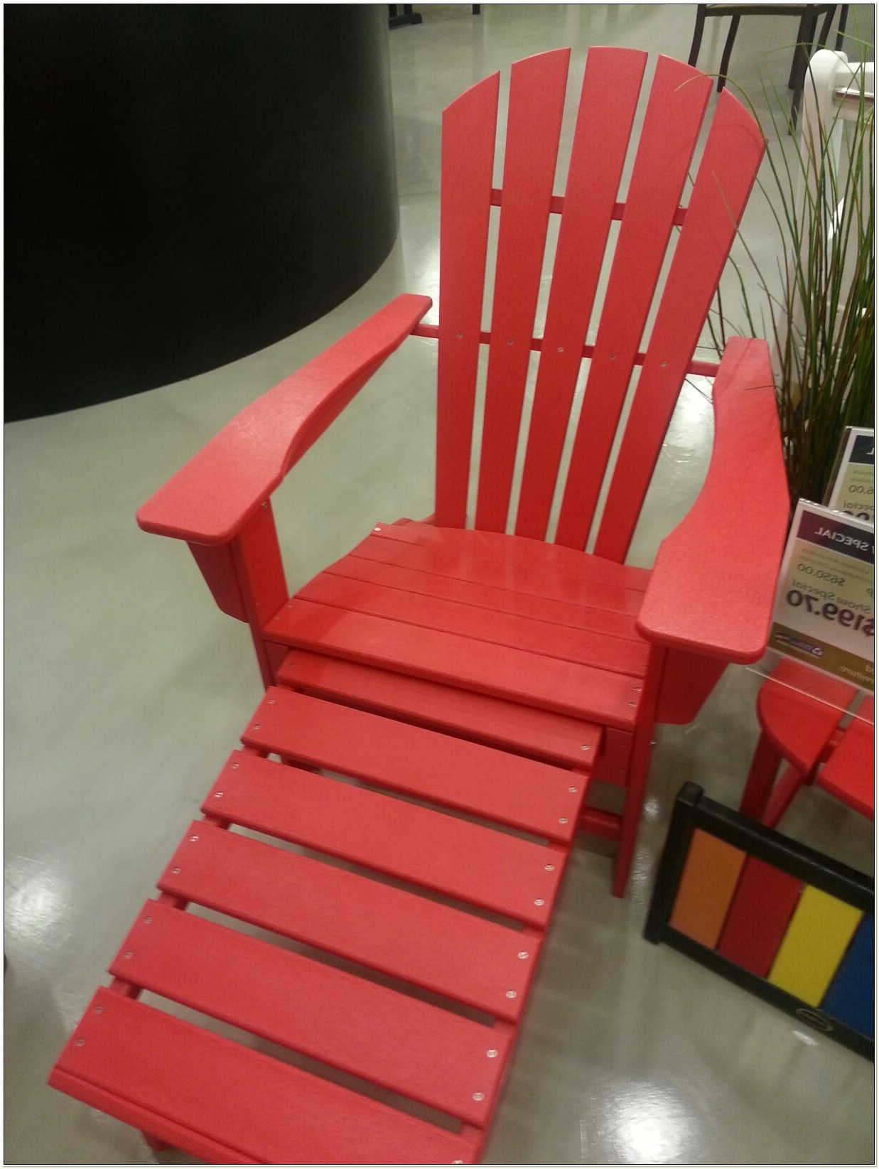 Polywood Adirondack Chairs With Ottoman