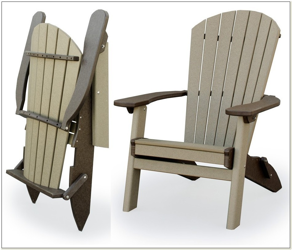 Polywood Folding Adirondack Chairs