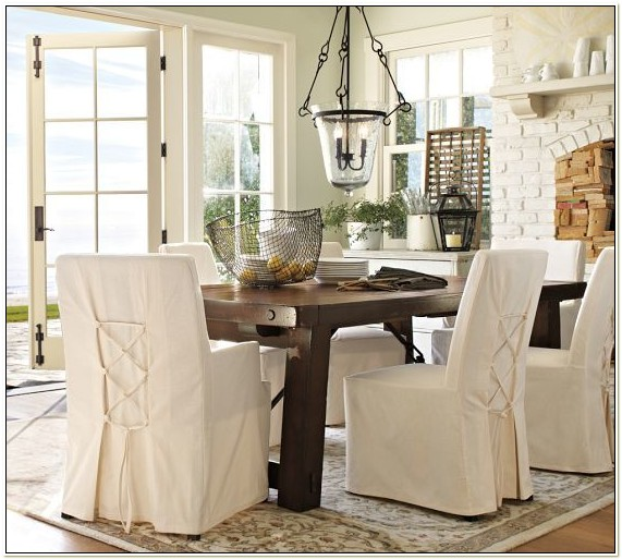 Pottery Barn Dining Room Chair Slipcovers