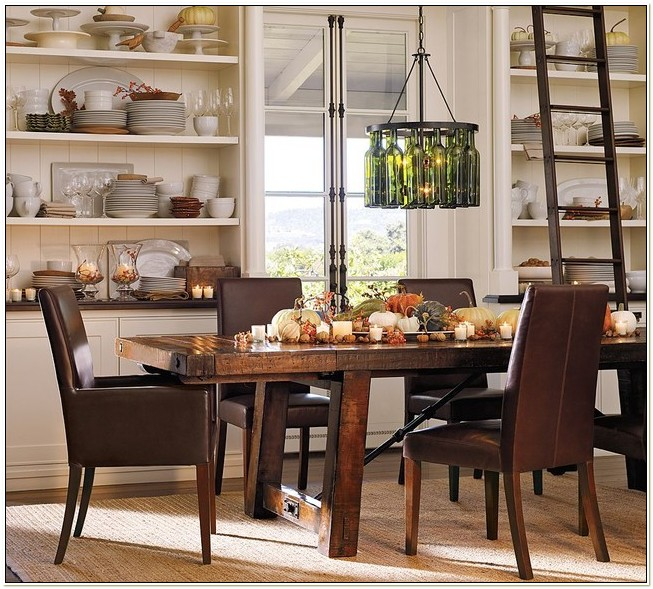 Pottery Barn Leather Dining Room Chairs