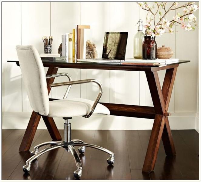 Pottery Barn White Desk Chair