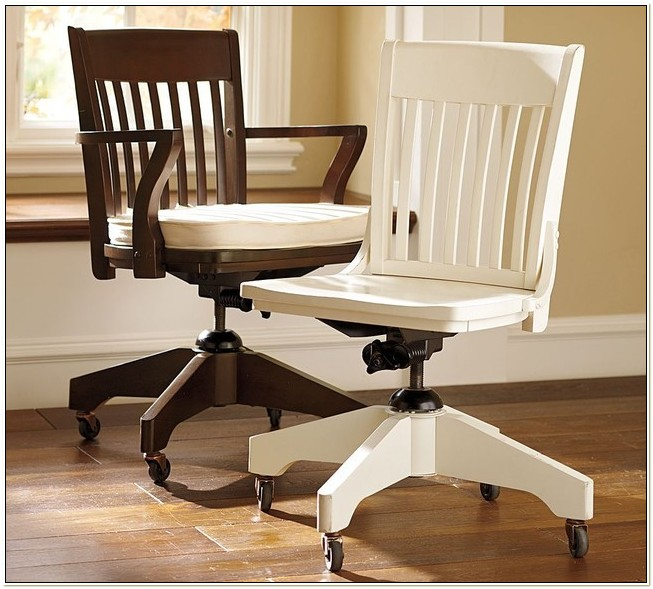Pottery Barn White Wood Desk Chair