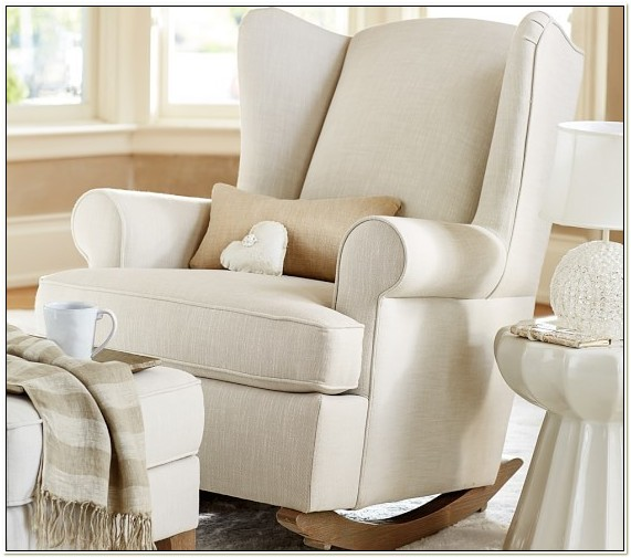Pottery Barn Wingback Rocker Slipcover