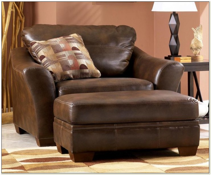 Prism Leather Chair And Ottoman